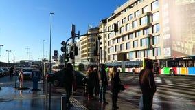 """Ciudad de Luxemburgo, invierno 2016 del †de Luxemburgo """" Externo del ferrocarril (Gare de Luxemburgo) metrajes"""