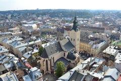 Ciudad de Lviv Fotografía de archivo