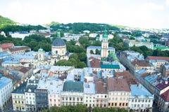 Ciudad de Lviv Imagen de archivo