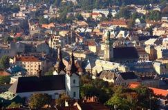Ciudad de Lvov, visión superior fotografía de archivo libre de regalías
