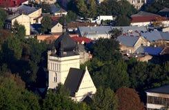 Ciudad de Lvov, visión superior fotos de archivo libres de regalías