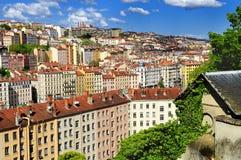 Ciudad de Lyon imagen de archivo