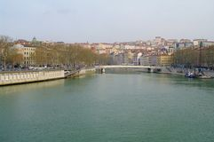 Ciudad de Lyon Fotografía de archivo