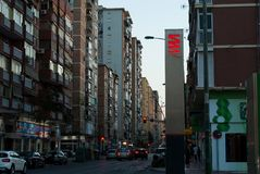 Ciudad de Málaga del interior Estilo urbano de las calles españolas foto de archivo libre de regalías