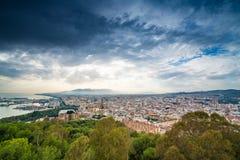 ciudad de Málaga que parece del oeste Fotografía de archivo