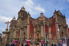 Ciudad de México, México - catedral metropolitana imágenes de archivo libres de regalías