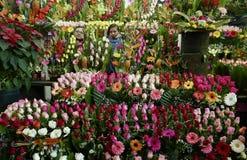 Ciudad de México, México 11 de diciembre de 2017: El mercado Mercado de Jamaica de la flor en Ciudad de México Imagenes de archivo