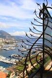 Ciudad de Mónaco a partir de una decoración del metal Imagen de archivo
