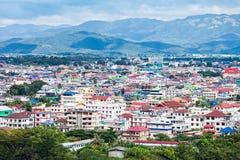 Ciudad de Mae Sai imagen de archivo