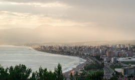 Ciudad de Mahmutlar, Alanya.Turkey fotos de archivo libres de regalías