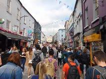 Ciudad de Main Street Galway Fotografía de archivo