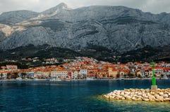Ciudad de Makarska Foto de archivo libre de regalías
