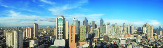 Ciudad de Makati Foto de archivo libre de regalías