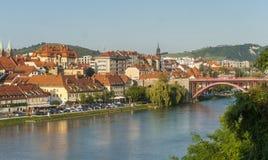 Ciudad de Maribor, Eslovenia Imágenes de archivo libres de regalías