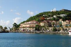 Ciudad de Marigot Imágenes de archivo libres de regalías