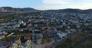 Ciudad de Markopoulo en Atenas almacen de video