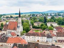 Ciudad de Melk de la abadía, Austria Imagen de archivo