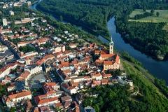 Ciudad de Melnik - foto de la mosca Imágenes de archivo libres de regalías