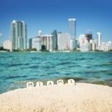 Ciudad de Miami, los E.E.U.U. Fotos de archivo