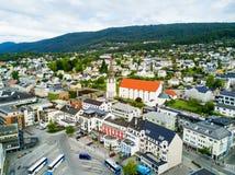 Ciudad de Molde en Noruega Imagenes de archivo