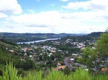 Ciudad de Mondai, Santa Catarina, el Brasil imagen de archivo libre de regalías
