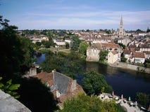 Ciudad de Montmorillon en Vienne en Francia Imágenes de archivo libres de regalías