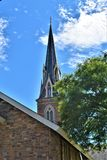 Ciudad de Montpelier, Washington County, Vermont Nueva Inglaterra Estados Unidos, Capital del Estado imágenes de archivo libres de regalías