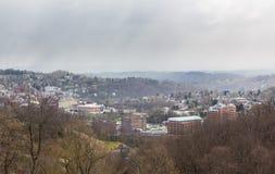 Ciudad de Morgantown en Virginia Occidental Imagen de archivo libre de regalías