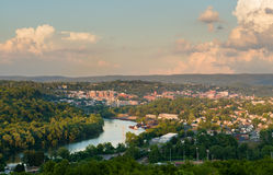 Ciudad de Morgantown en Virginia Occidental Foto de archivo