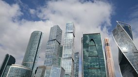 Ciudad de Moscú del centro de negocios almacen de metraje de vídeo