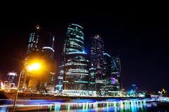 Ciudad de Moscú del centro de negocios time lapse imagen de archivo libre de regalías