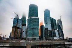 Ciudad de Moscú del centro de negocios imagen de archivo libre de regalías
