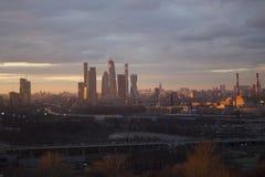Ciudad de Moscú del paisaje, Moscú, Rusia Imagen de archivo libre de regalías