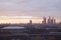 Ciudad de Moscú del paisaje, Moscú, Rusia Fotos de archivo libres de regalías