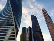 Ciudad de Moscú - vista de rascacielos Foto de archivo