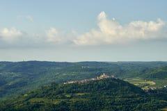 Ciudad de Motovun, istria Fotografía de archivo libre de regalías