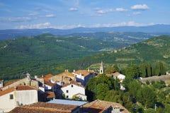 Ciudad de Motovun, istria Fotos de archivo libres de regalías