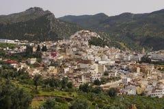 Ciudad de Moulay Idriss Fotos de archivo libres de regalías