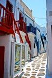 Ciudad de Mykonos Fotos de archivo