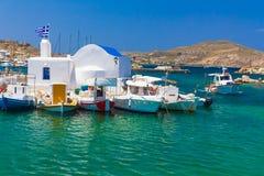 Ciudad de Naoussa, isla de Paros, Cícladas, egeas, Grecia foto de archivo libre de regalías
