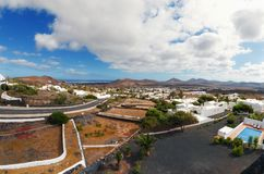 Ciudad de Nazaret, isla de Lanzarote, España Foto de archivo