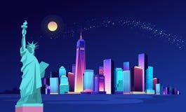 Ciudad de neón abstracta