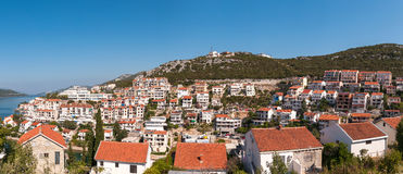 Ciudad de Neum en el anf Harzegovina de Bosnia Fotos de archivo