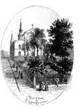 Ciudad de New Orleans Ejemplo del grabado