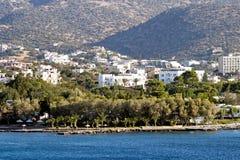 Ciudad de Nicolás de los agios en Crete fotografía de archivo