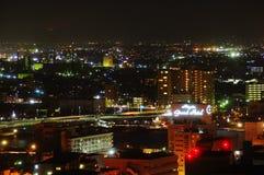 Ciudad de Niigata en la noche Fotografía de archivo