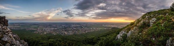 Ciudad de Nitra desde arriba Foto de archivo libre de regalías