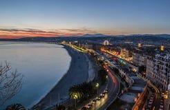 Ciudad de Niza Foto de archivo