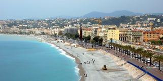 Ciudad de Niza - arquitectura a lo largo de Promenade des Anglais Fotos de archivo libres de regalías
