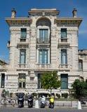 Ciudad de Niza - arquitectura a lo largo de Promenade des Anglais Imagenes de archivo